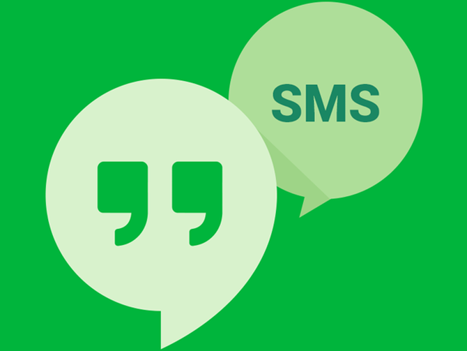 Hangouts SMS messaging